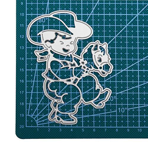 WOZOW Stanzschablone Scrapbooking Stanzmaschine Prägeschablonen Schneiden Stanzformen Schablonen Weihnachten Grußkarte für Sizzix Big Shot (D Reitjunge)