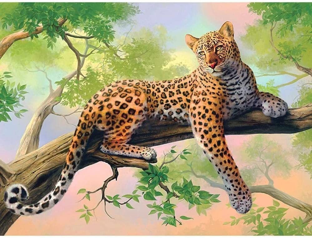 Jigsaw Raleigh Mall Puzzles 6000 Max 44% OFF Pieces for Kids and Adults leopard-6000Piece