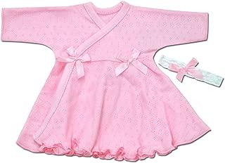 Itty Bitty Baby Ruffled NICU Dress with Headband - NICU Friendly