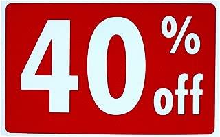 GVGs Shop 1 Set Superb Popular Sale 40% Percent Off Sign Store Declare Business Information Size 7