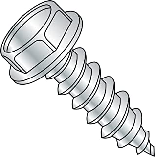 Pack of 150 Hex Washer Head 1//4-14 Thread Size Plain Finish Pack of 150 Type AB 18-8 Stainless Steel Sheet Metal Screw Small Parts 1464ABSW188 1//4-14 Thread Size 4 Length 4 Length Slotted Drive