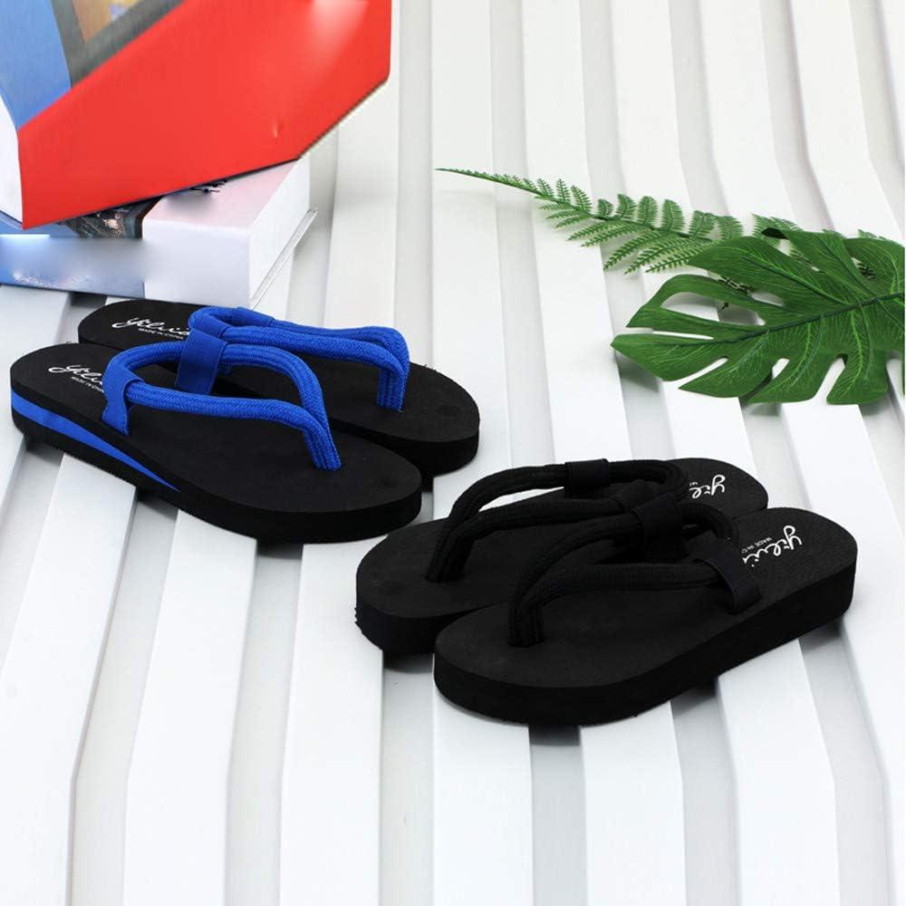 HARRYSTORE Women Thin Belt Flip Flop Sandals beach Slippers Sandals Shoes For Women Wide Width casual Flat Mules Women red Thong Sandals Unique Black