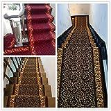 XQKXHZ Läufer Teppiche, Buntes Flickenteppich-Läufer des Patchwork-Hölzernen Korn-Korridor-Treppen-Langen Weichen Rutschfesten Flurs Für Küchen-Hotel-Konferenzzimmer,80x300cm - 4