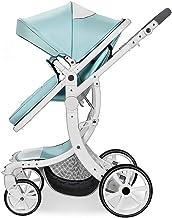 Sillas de paseo Cochecito de bebé puede sentarse y acostarse for plegar la de la década de los niños del bebé cuatro estaciones paisaje de la alta mano carro de bebé Cochecito de bebé ( Color : E )
