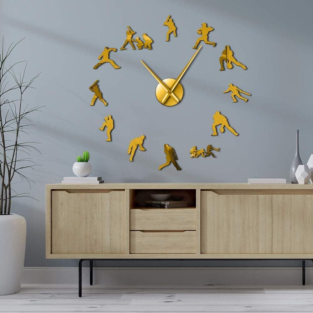 Decorative Modern Baseball Wall Clocks Frameless DIY Cl Giant 3D Louisville-Jefferson County Virginia Beach Mall Mall