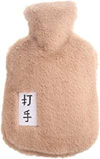 Garneck Hot Water Bottle with Plush Fleece Cover Hot Water Bag for Arthritis and Pain Relief (Fighter)