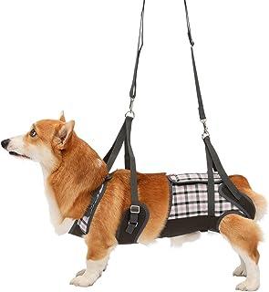 With(ウィズ) 歩行補助ハーネス LaLaWalk 中型犬・コーギー用 パープルチェック CLサイズ