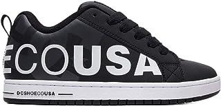DC Men's Court Graffik SE Skate Shoe, White/Black/White Print, 10.5 M US