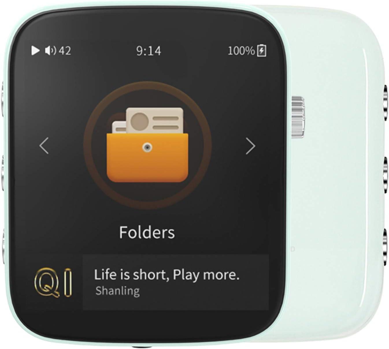 YaGFeng Shanling Q1 Reproductor de MP3 HiFi con Bluetooth Sin Pérdidas DSD Reproductor de Música de Audio Digital de Alta Resolución Reproductor de Audio Portátil de Alta Resolución,Blue