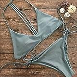 Traje de baño Mujer, Conjunto de Bikini para Mujer Traje de baño Sujetador sólido con Relleno Push-Up Traje de baño Ropa de Playa S, Traje de baño Control de Barriga (Verde S)