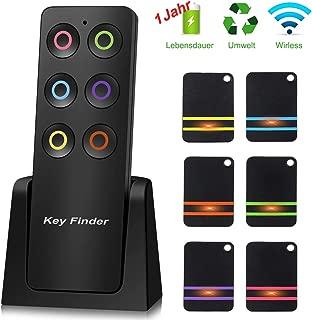 LED Keyfinder Wireless Schlüsselfinder Schlüssel Suchen Orten mit 4pcs Empfänger