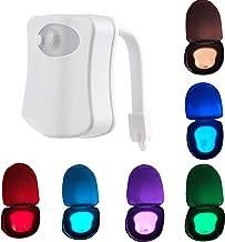 SH-RuiDu Toilet Licht, 8 Kleur Verwisselbare Toilet Nachtlampje Menselijk Lichaam Auto Bewegingssensor Geactiveerd LED Toi...
