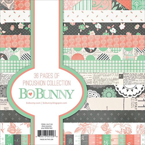 Bo Bunny 6x 6kissenförmige Papier Pad