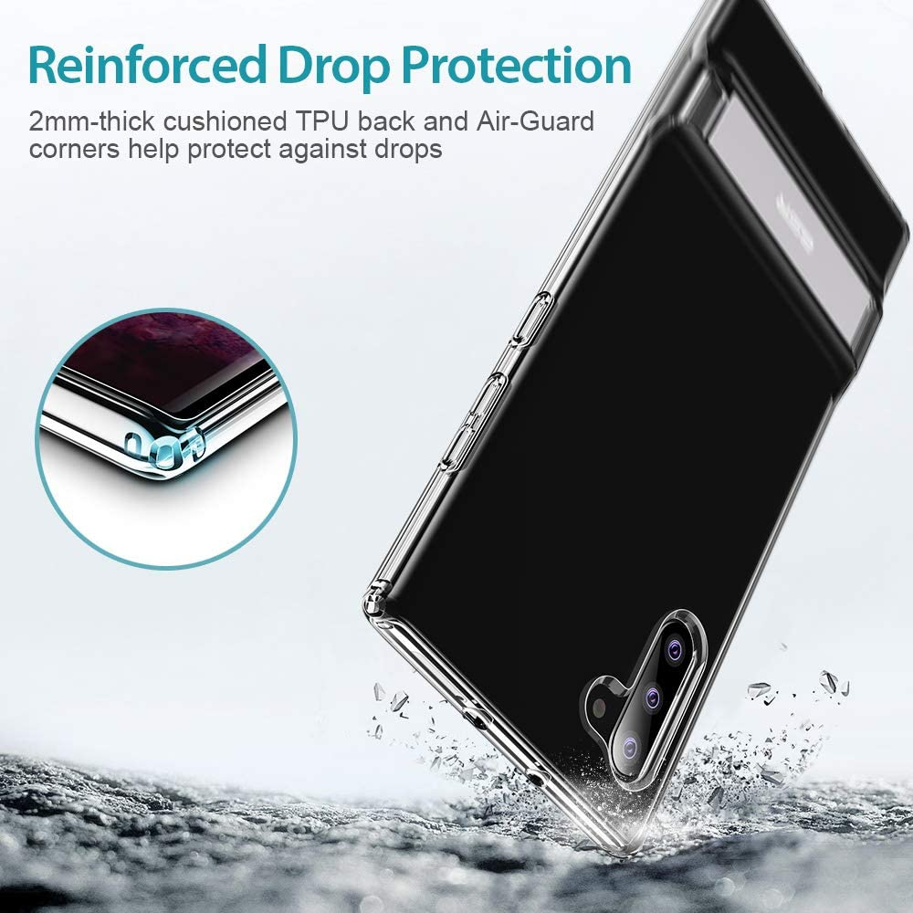 Reinforced Drop Protection Clear with Vertical and Horizontal Stand ESR Metal Kickstand Case Compatible with Samsung Galaxy Note 10 6.3-Inch