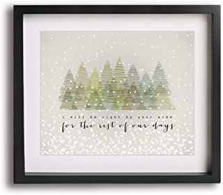 Snow Outside by Dave Matthews Band inspired wedding song lyric art print, unique first paper anniversary gift idea