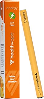 Energy Caffeine + Vitamin B12 Energy Inhaler Pen with Orange and Cassia Oils + L-Theanine - Citrus Flavored Daily Vitality Supplement