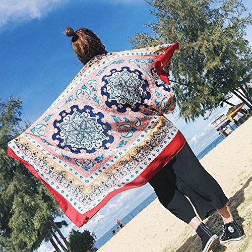 YRXDD Tassel Fashion Retro Art National Vent Coton et Lingerie crème Solaire châle Femme Serviette de Plage (100 * 180cm), la Carte Principale