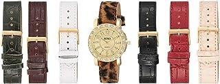 XOXO Women's Sunray Dial Interchangeable Leather Band Watch Set - UTIGS006