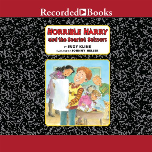 Horrible Harry and the Scarlet Scissors audiobook cover art