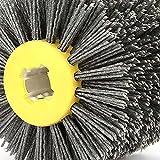 xiaoyu shop Cepillo de rueda de dibujo de alambre, superficie cóncava y convexa, rueda de pulido bruñido, alta durabilidad para muebles de fábrica de carpintería