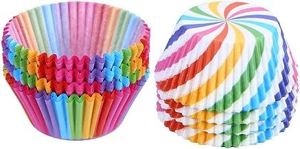 200 PCS Rainbow Cupcake Bakken Cases Muffin Cupcake Wrapper papieren vormpjes for Huwelijk, Verjaardag. zcaqtajro