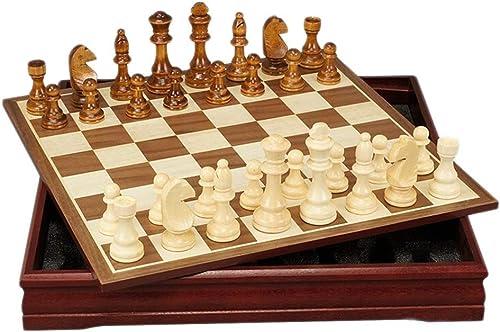 Haute qualité Jeux et Jouets échecs Jeu D'échecs En Bois Jeu D'échecs En Bois Créatif En Bois Pièce Enfants DéveloppeHommest Intellectuel Apprendre Jouets Les Les dames De Stockage De Jeu échecs Créatif Traditio