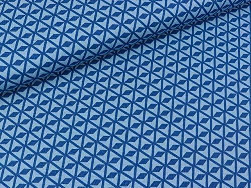 Swafing Baumwollcanvas Square hellblau-blau by Lila-Lotta