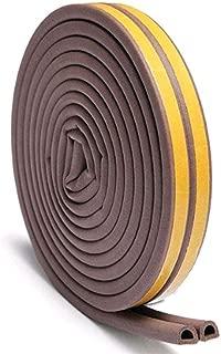 Draught Excluder Self Adhesive Rubber Door Window Seal Strip Roll Foam Windshield Seal Strip Tape@Brown