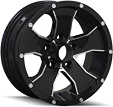 ION TRAILER 14 Wheel with Black/Machined Face (14 x 6. inches /5 x 83 mm, 0 mm Offset