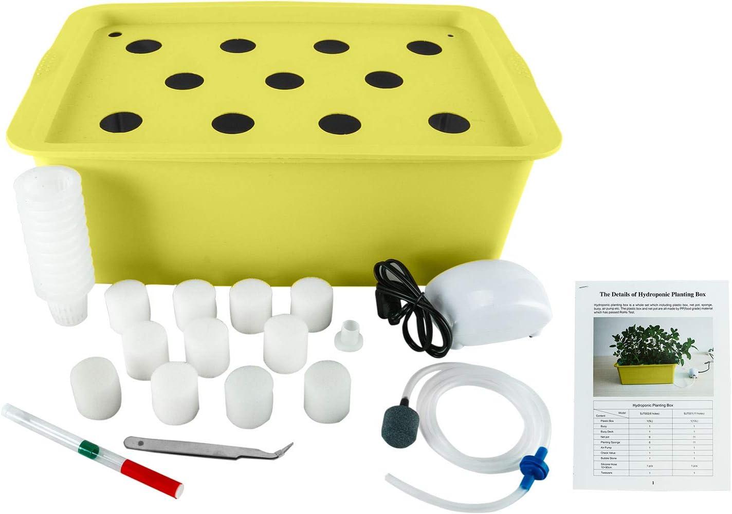 HYDDNice 11 Holes Hydroponic Grower Virginia Beach Mall DIY Kit Plant Self discount Watering