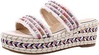 VulusValas Women Wedge Heel Mules Sandals