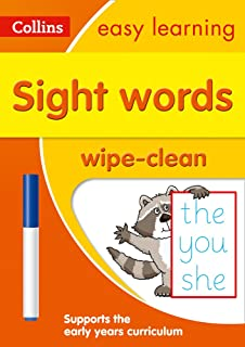 Sight Words Age 3-5 Wipe Clean Activity Book: Ideal for Home Learning