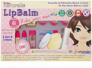 Kiss Naturals Lip Balm Kit - Organic DIY Lip Balm Making Kit for Kids - 100% Safe and Organic Creative Kit for Girls and Boys