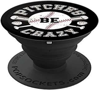 Baseball Pitches Be Crazy - PopSockets Grip and Stand for Phones and Tablets