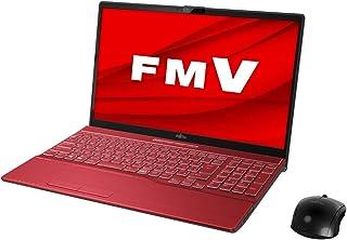 富士通 FMV LIFEBOOK AH77/E2 ガーネットレッド - 15.6型ノートパソコン[Core i7 / メモリ 8GB / SSD 1TB / BDドライブ]Microsoft Office Home & Business 201...