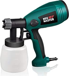 Paint Sprayer NEU MASTER N3020 Electric HVLP Spray Gun with 3 Spray Patterns, Flow Control, Easy to Disassemble for Clean up (Green)