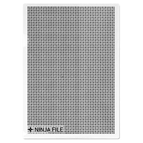 【中身が隠せる忍者ファイル】クリアファイルa4カモフラージュホルダーA4サイズ10枚セット(透明)クリアホルダーのぞき見防止情報保護重要機密書類秘密プライバシーLESALPES