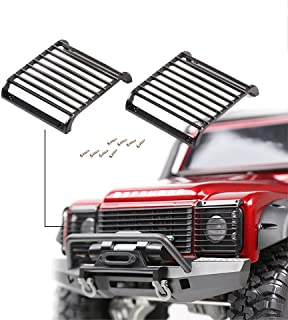2Pcs TRX4 Metal Black LED Headlight Cover Guard Grille for 1/10 RC Crawler Car Traxxas TRX-4 T4 …