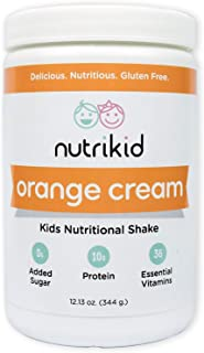 Kids Protein Shake - Nutritional Orange Cream Superfood Powder With Essential Vitamins, Fiber & Digestive Enzymes - Toddle...