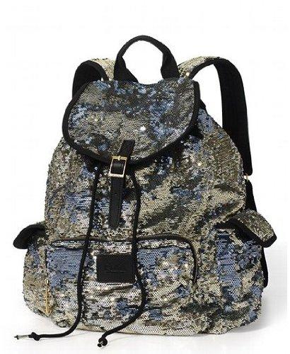 Victorias Secret Pink Bling Silver Gold Flip Sequin Backpack