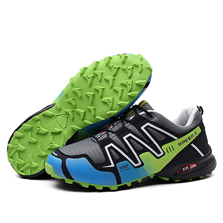 Men's Non-Slip Hiking Shoes,Mosunx AthleticTeen Boys Ultra Lightweight Breathable Lace Up Sneakers Sport Running Shoes Low-Top Trail Walking Shoes (8.5 M US, Green) zodhyx0724505