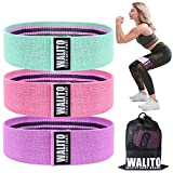 Walito Resistance Bands for Legs and Butt,Exercise Bands Set Booty Bands Hip Bands Wide Workout Bands Sports Fitness Bands Resistance Loops Band Anti Slip Elastic (Set 3)