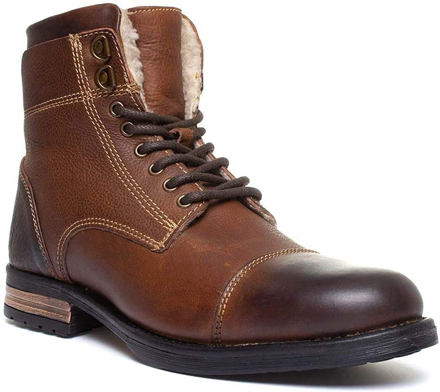 Silver Street Mens Lace Up Boot in Brown