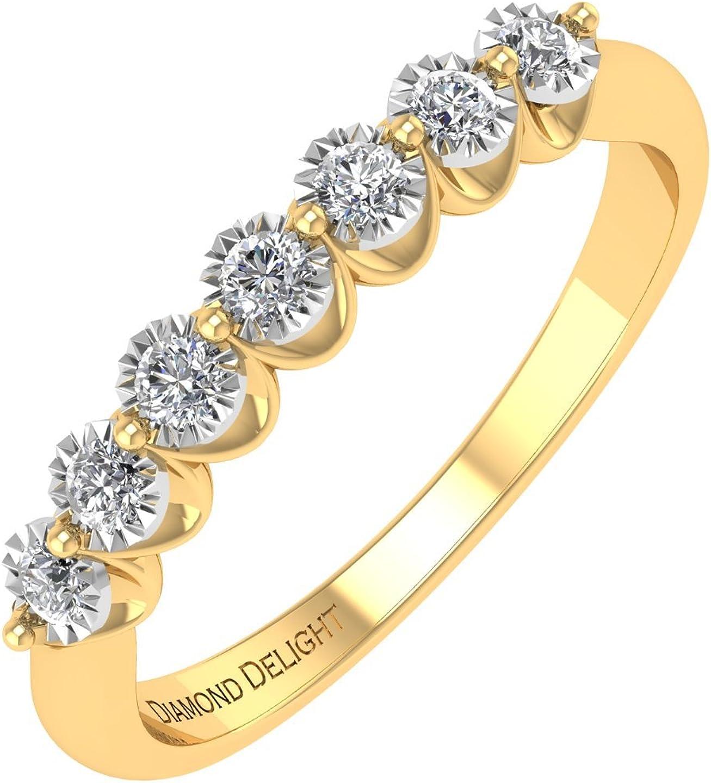 10k White Gold 7 stone 日本製 Flush Anniversary Ban Wedding Seasonal Wrap入荷 Diamond Set