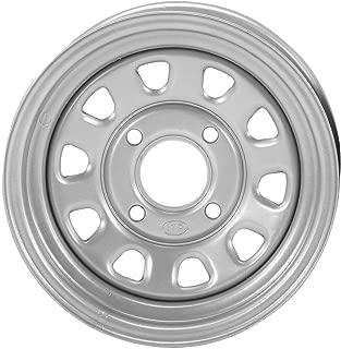 ITP Delta Steel Wheel - 12x7 - 5+2 Offset - 4/115 - Silver , Bolt Pattern: 4/115, Rim Offset: 5+2, Wheel Rim Size: 12x7, Color: Silver, Position: Front/Rear D12F115