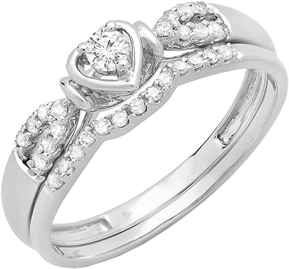 Dazzlingrock Collection 0.25 Carat ctw 10K Max 75% OFF Gold Ladies Cheap mail order shopping Diamond
