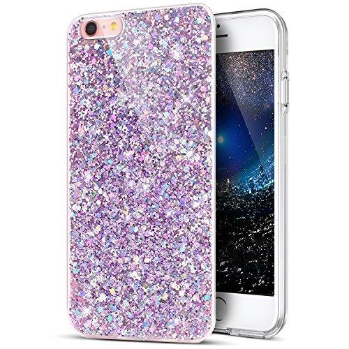 Ikasus - Funda para iPhone 6S, iPhone 6, Purpurina Brillante en Polvo 3D Diamo