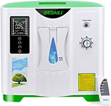 DEDAKJ Oxygen Concentrator Continuous 2-9L/min Adjustable Portable Oxygen Machine for Home and Travel Use, AC 110V Humidifiers