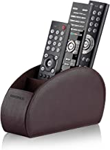 Best Remote Control Holder with 5 Compartments (Brown) – PU Leather TV Remote Organizer - Remote Caddy Desktop Organizer for TV Remote, DVD, Controllers - Media Accessory Storage & Organizer by SONOROUS Review