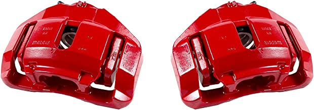 CCK01560 [ 2 ] FRONT Performance Grade Red Powder Coated Semi-Loaded Caliper Assembly Pair Set